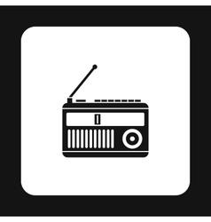 Radio receiver icon simple style vector