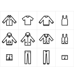 Clothing icons set 1 vector