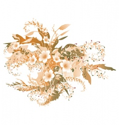Autumn flowers vector