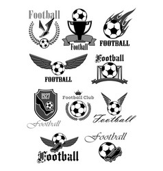Football or soccer sport club isolated symbol set vector