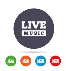Live music sign icon karaoke symbol vector