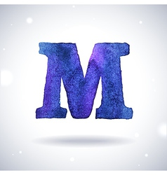 Watercolor letter m vector