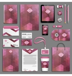 Corporate identity template set vector