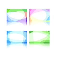 business cards collection vector image