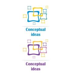 conceptual ideas logo vector image