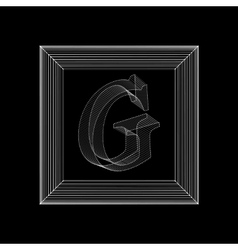 Letter g fonts of mesh vector