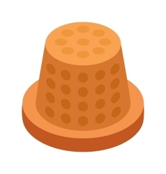 Thimble 3d isometric icon vector
