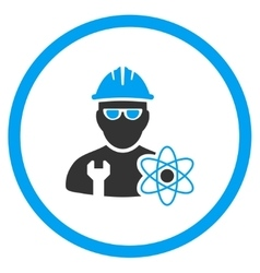 Industrial scientist icon vector