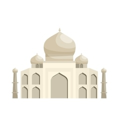 Taj mahal icon cartoon style vector