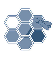 Bee hive team work community concept vector