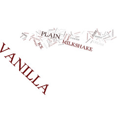 Best recipes classic vanilla milkshake text vector