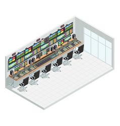 Broadcast studio isometric interior vector