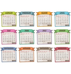 calendar for 2013 vector image vector image