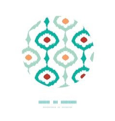 Colorful chain ikat frame circle decor pattern vector