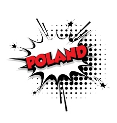 Comic text poland sound effects pop art vector