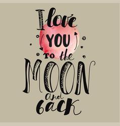 Declaration of love pink moon beige background vector