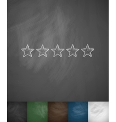 Five-star icon vector