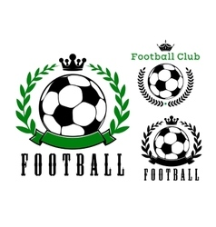 Football or soccer club badges design vector