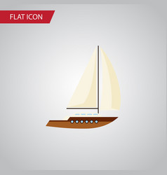 isolated sailboat flat icon yacht element vector image vector image