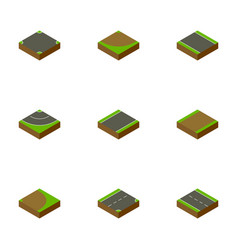 Isometric road set of unilateral road rotation vector
