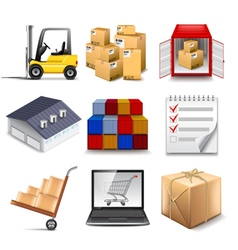 Logistics part two icons set vector image vector image