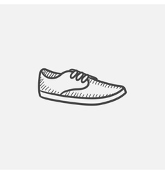 Male shoe sketch icon vector image