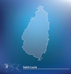 Map of saint lucia vector