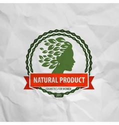 natural product Logo icon sign emblem stamp vector image vector image