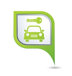 Parking symbol on green map pointer vector