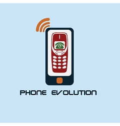 Phone evolution flat design vector