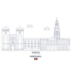Porto city skyline vector
