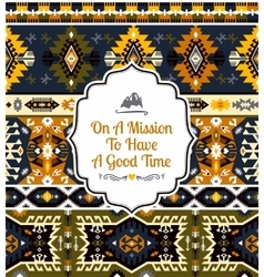 Seamless pattern in tribal style vector image