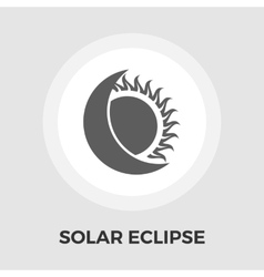 Solar eclipse flat icon vector image