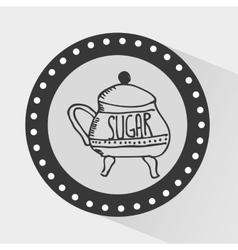 Sugar container design vector