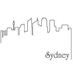 Sydney city one line drawing vector