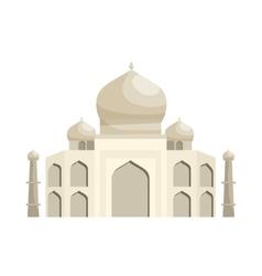 Taj mahal icon cartoon style vector