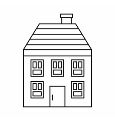 Wooden house icon outline style vector image