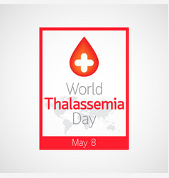 World thalassemia day icon vector