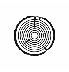 Tree ring icon in simple style vector