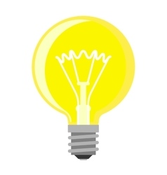 Lamp light bulb vector
