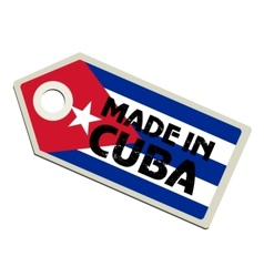Made in Cuba vector image