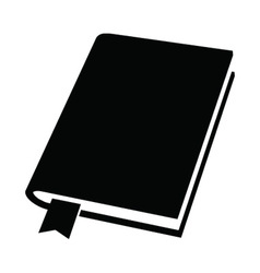 Book with a bookmark vector