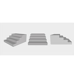 Three group of stairs vector