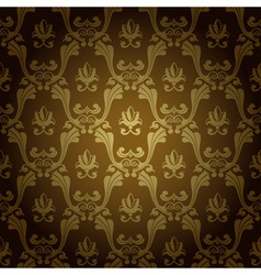 Seamless vintage wallpaper background stamping old vector