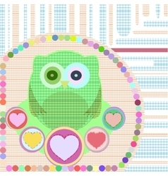 Flower and textile owl vector