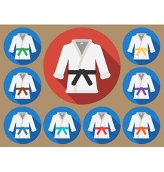 Karate suit flat vector image
