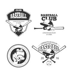 Baseball vintage emblems labels badges vector image