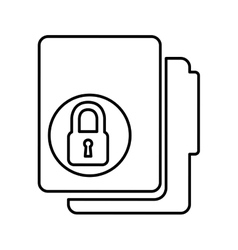 Folder with padlock isolated icon design vector