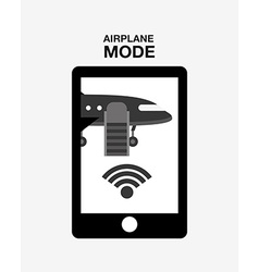 Airplan mode design vector