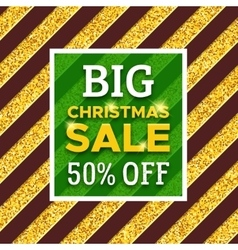 Big christmas sale 50 percent off promotion banner vector